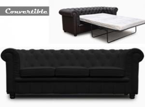 canapé chesterfield velours convertible 13