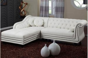 canapé chesterfield velours blanc 4