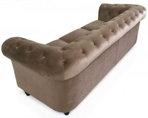 canapé chesterfield velours blanc 12