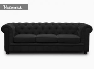 canapé chesterfield velours blanc 14