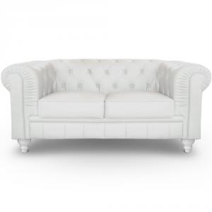 canapé chesterfield velours blanc 15