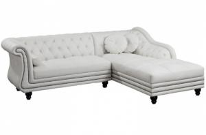canapé chesterfield velours blanc 16