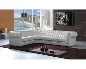 canapé chesterfield velours blanc 17