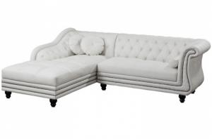 canapé chesterfield velours blanc 18