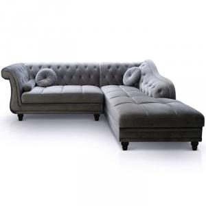 canapé chesterfield velours blanc 20