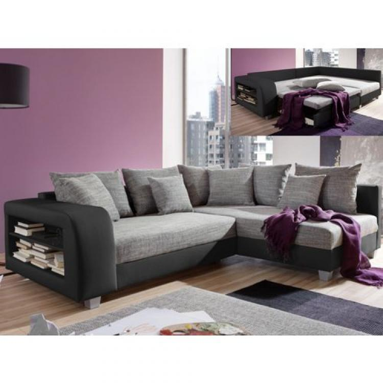 photos canap d 39 angle convertible tissu et simili kuopio. Black Bedroom Furniture Sets. Home Design Ideas