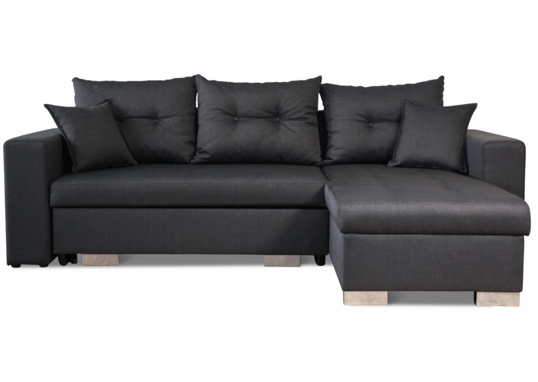 photos canap d 39 angle convertible tissu et pouf de rangement mezzo. Black Bedroom Furniture Sets. Home Design Ideas