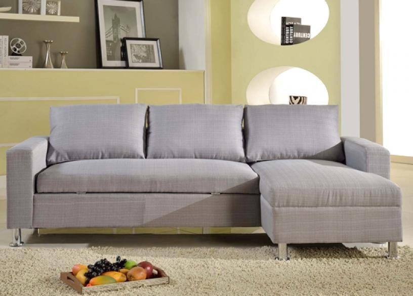 photos canap d 39 angle convertible gris clair. Black Bedroom Furniture Sets. Home Design Ideas
