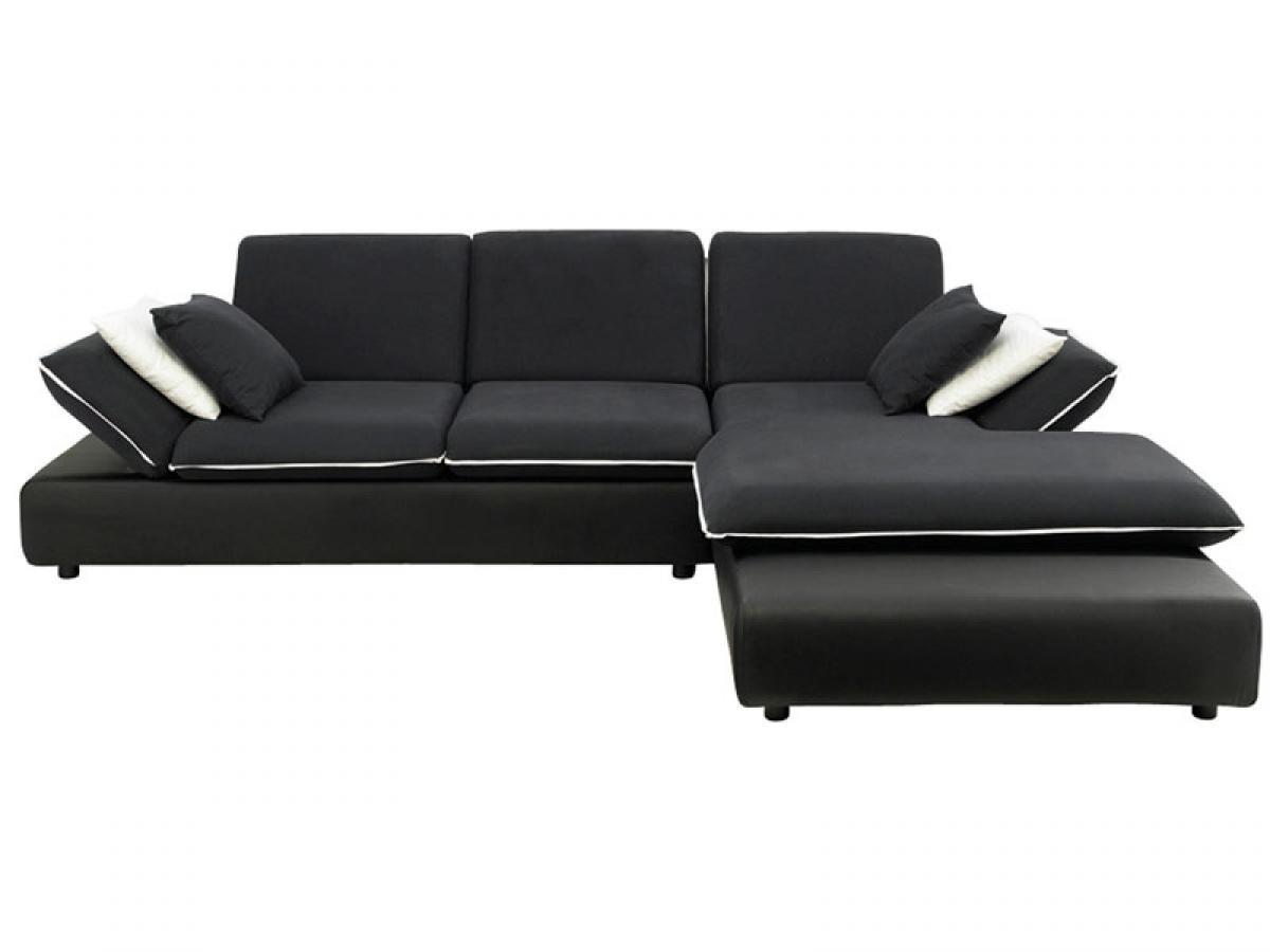photos canap d 39 angle convertible noir et blanc. Black Bedroom Furniture Sets. Home Design Ideas