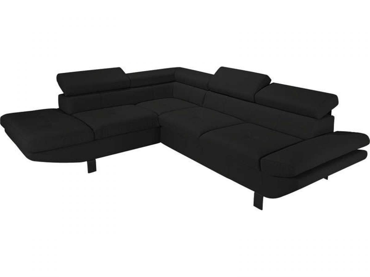 photos canap d 39 angle convertible noir conforama. Black Bedroom Furniture Sets. Home Design Ideas