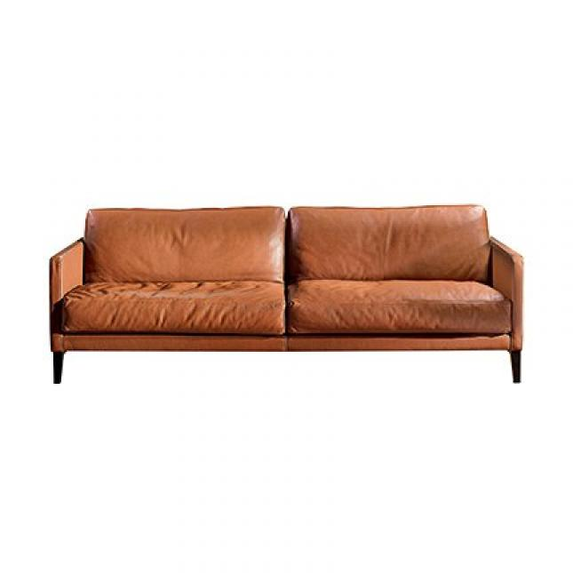 Photos canap 2 places cuir marron - Banquette cuir 2 places ...