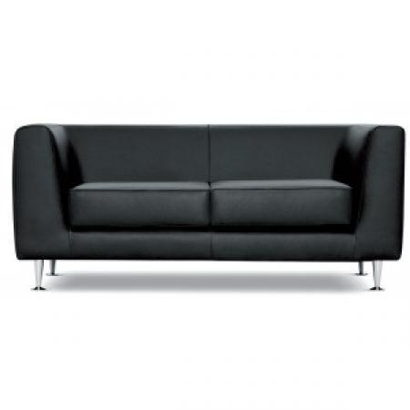 photos canap 2 places cuir noir. Black Bedroom Furniture Sets. Home Design Ideas