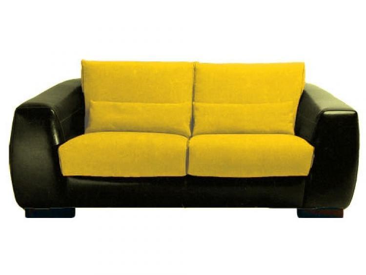 photos canap 2 places cuir jaune. Black Bedroom Furniture Sets. Home Design Ideas