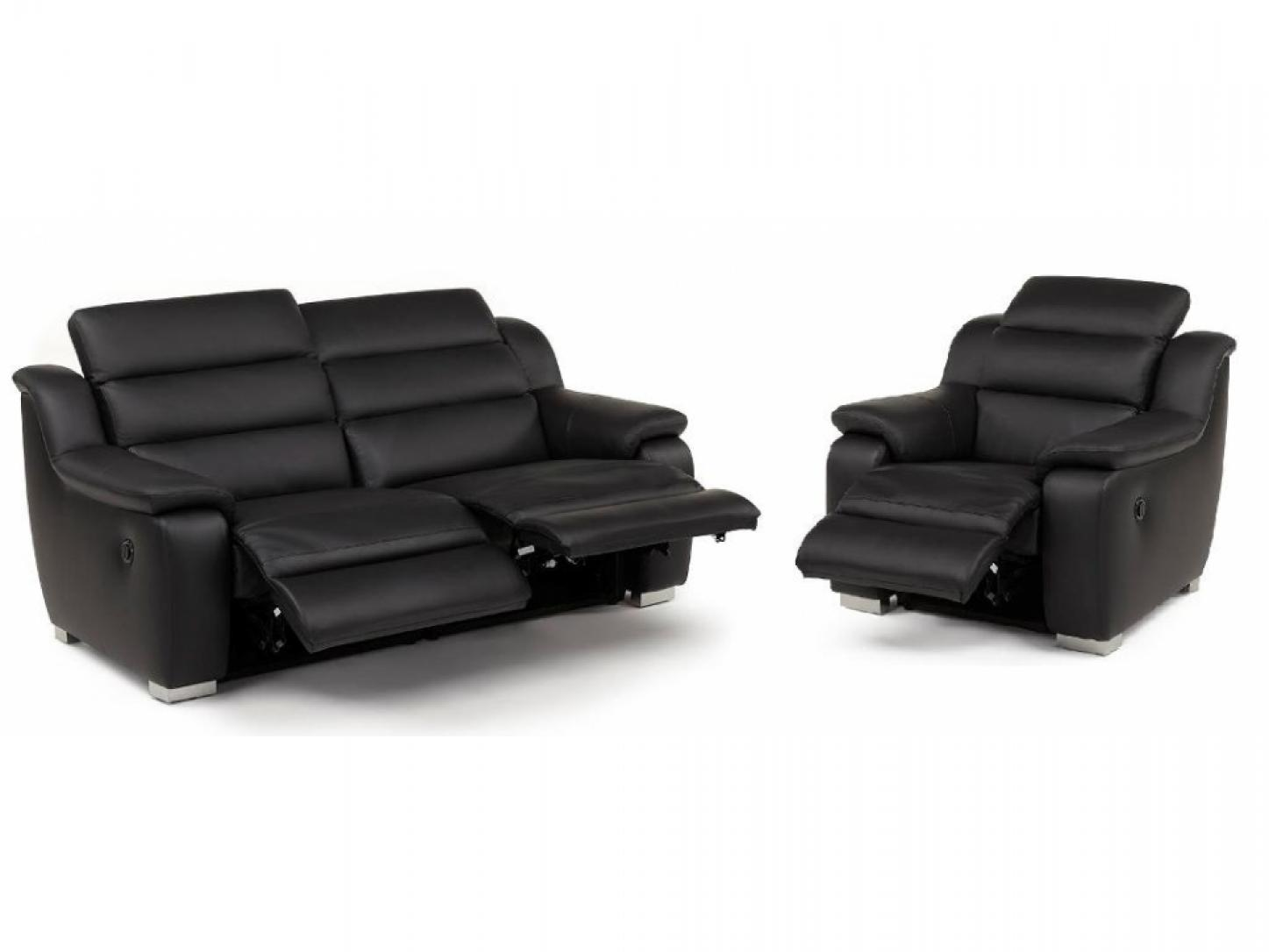 photos canap 2 places relax lectrique cuir arena. Black Bedroom Furniture Sets. Home Design Ideas