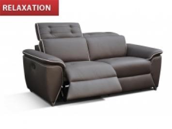 photos canap 2 places relax lectrique cuir arena. Black Bedroom Furniture Sets. Home Design Ideas