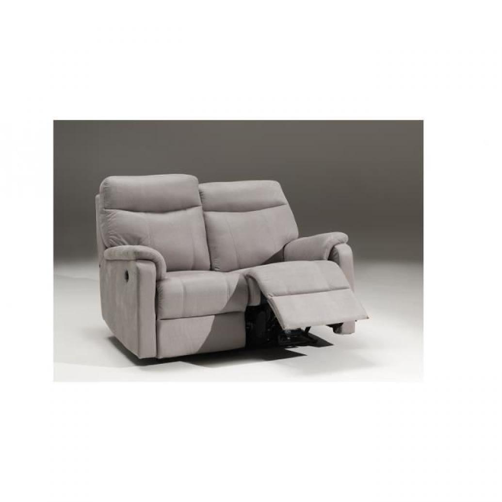 Photos canap 2 places relaxation lectrique cuir for Canape electrique