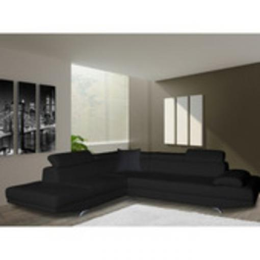 canape d angle simili cuir noir maison design. Black Bedroom Furniture Sets. Home Design Ideas