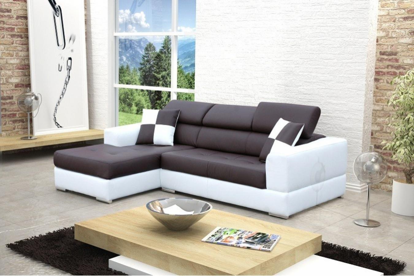 photos canap d 39 angle cuir blanc et noir. Black Bedroom Furniture Sets. Home Design Ideas