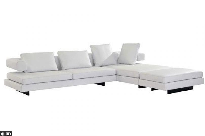 Photos canap d 39 angle cuir blanc ikea for Cuir center canape d angle