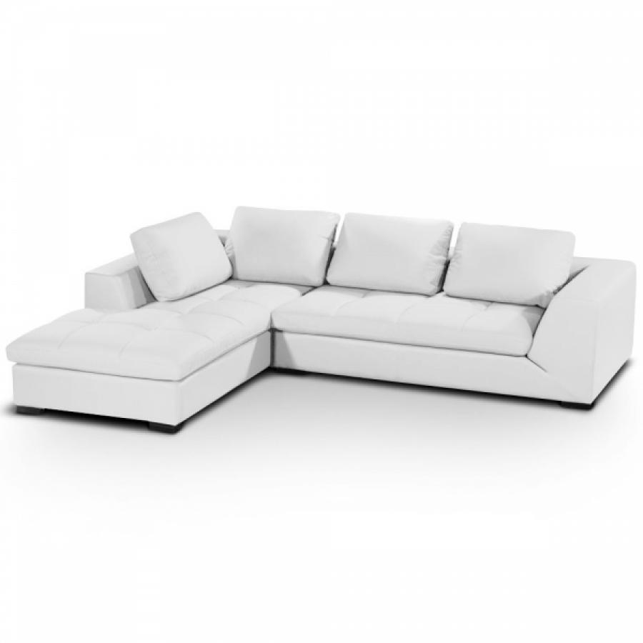 Photos canap d 39 angle cuir blanc ikea for Canape cuir ikea convertible