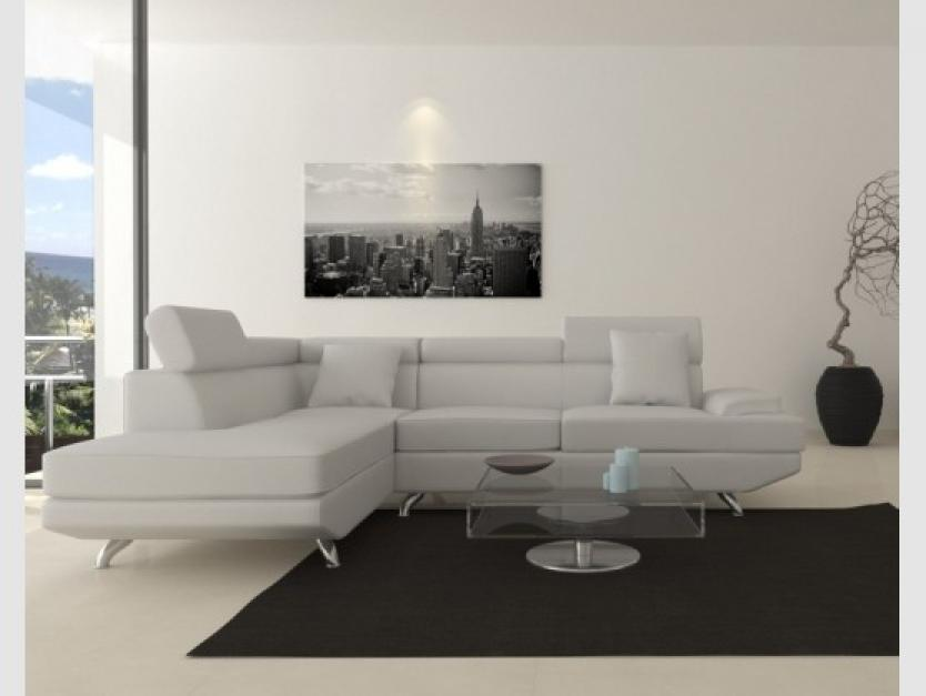 photos canap d 39 angle cuir blanc pas cher. Black Bedroom Furniture Sets. Home Design Ideas