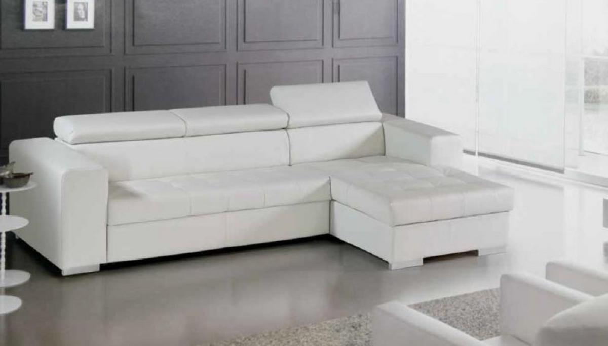 Photos canap d 39 angle cuir blanc conforama for Canape modulable conforama
