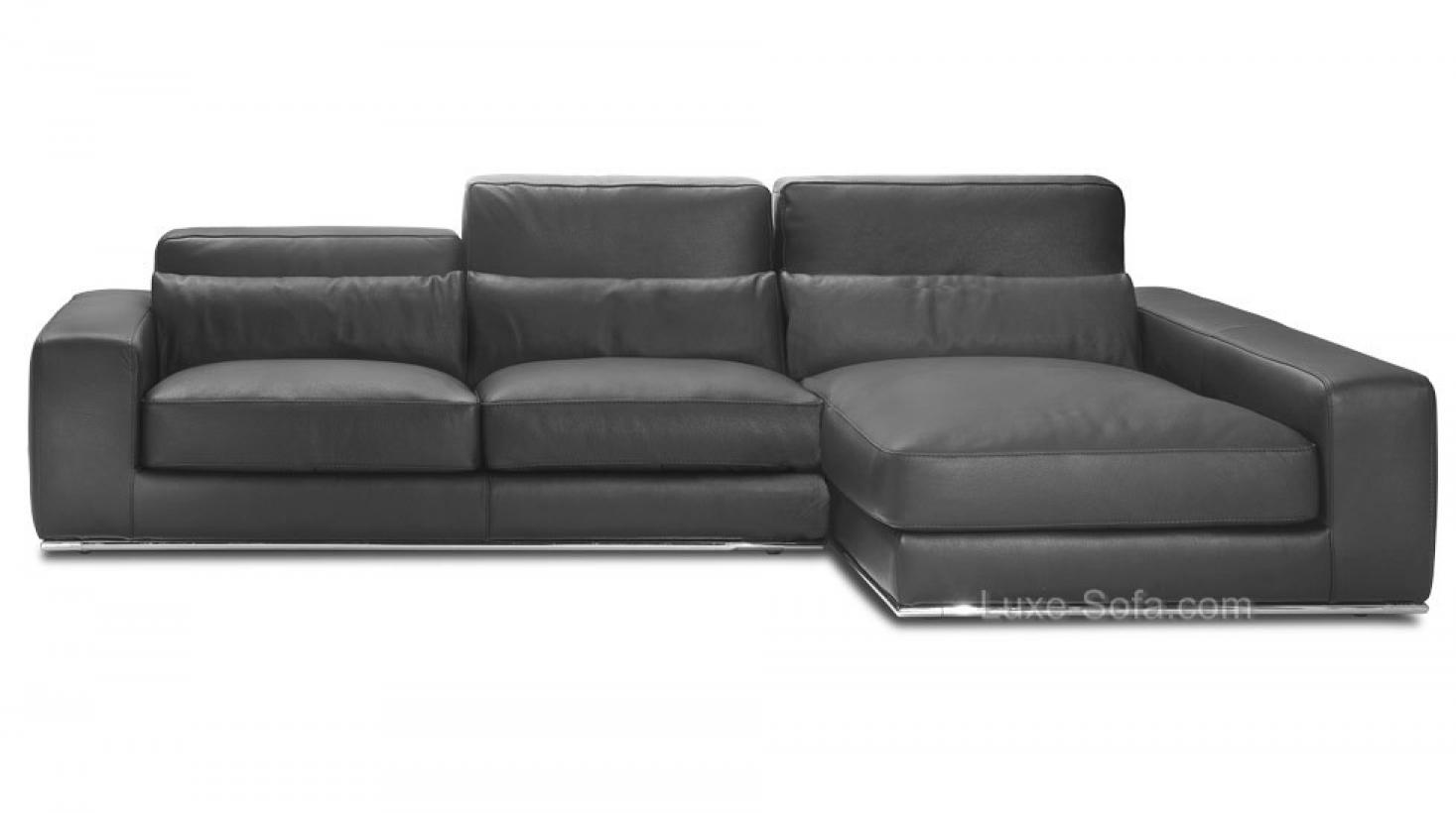 photos canap d 39 angle cuir gris anthracite. Black Bedroom Furniture Sets. Home Design Ideas