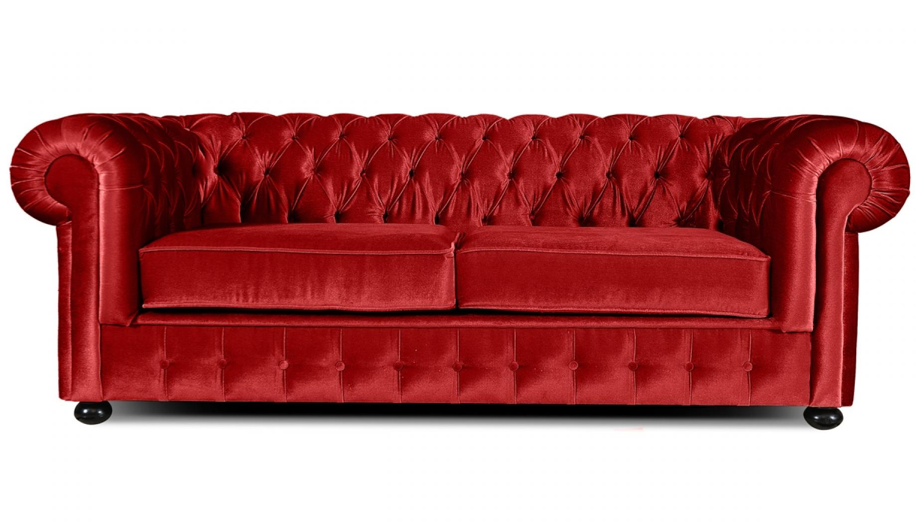 Canape chesterfield velours for Canape chesterfield en velours