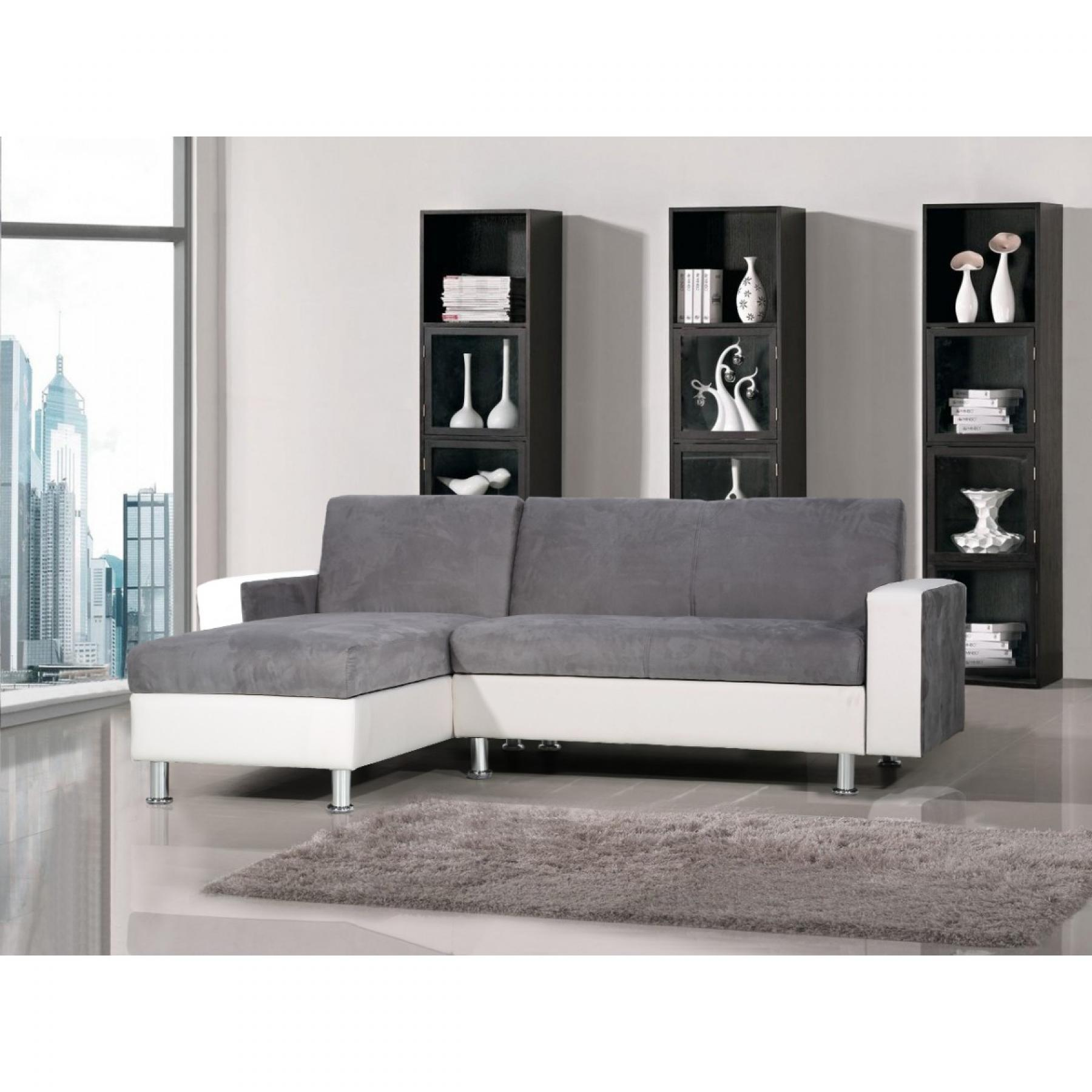 photos canap d 39 angle gris et blanc pas cher. Black Bedroom Furniture Sets. Home Design Ideas