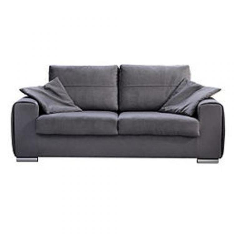 Photos canap convertible 3 places tissu microfibre gris totti - Convertible 3 places ...