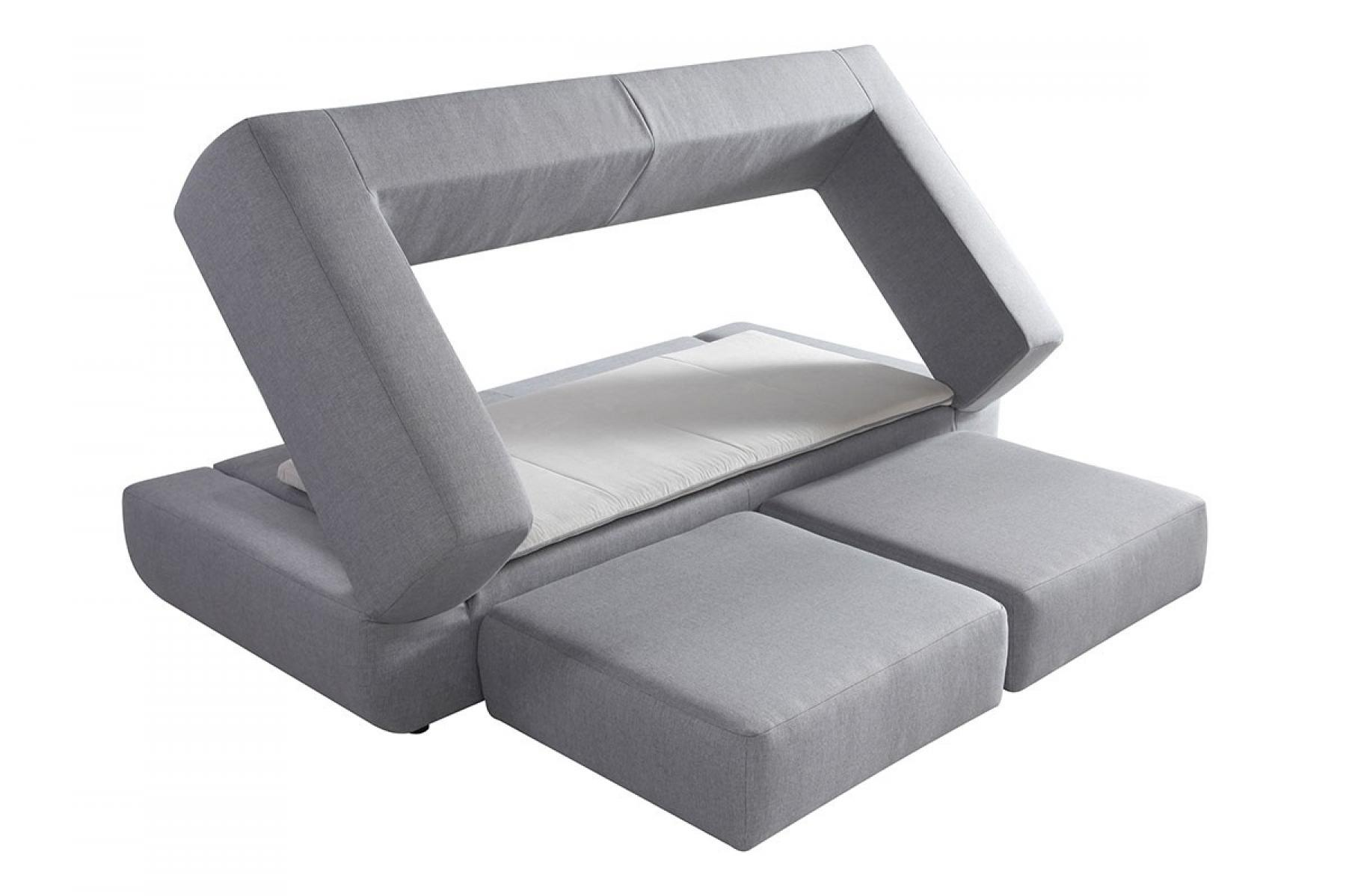 Canape convertible 3 places tissu microfibre gris totti for Canape 3 places microfibre
