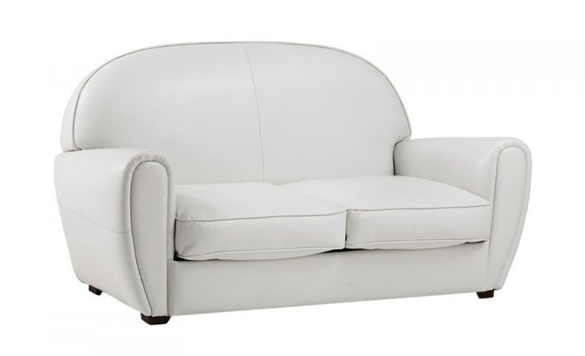 Photos canap convertible cuir blanc 2 places - Canape club cuir convertible ...