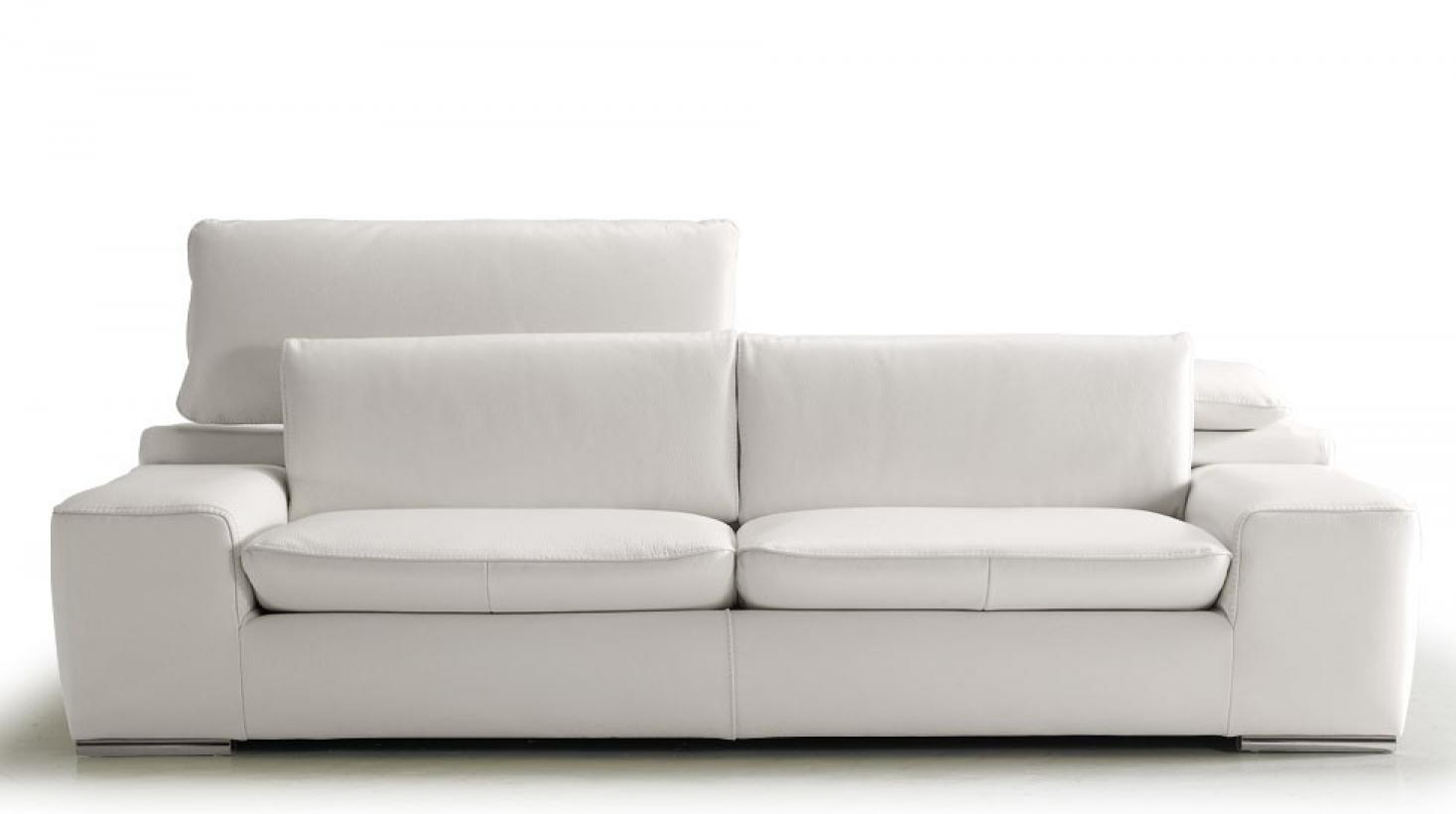 Photos canap convertible cuir blanc 2 places - Habitat canape convertible ...