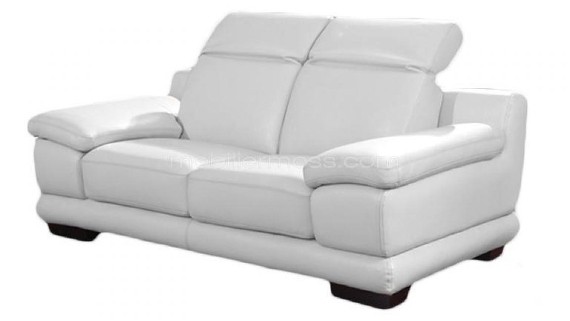 photos canap convertible cuir blanc 2 places. Black Bedroom Furniture Sets. Home Design Ideas