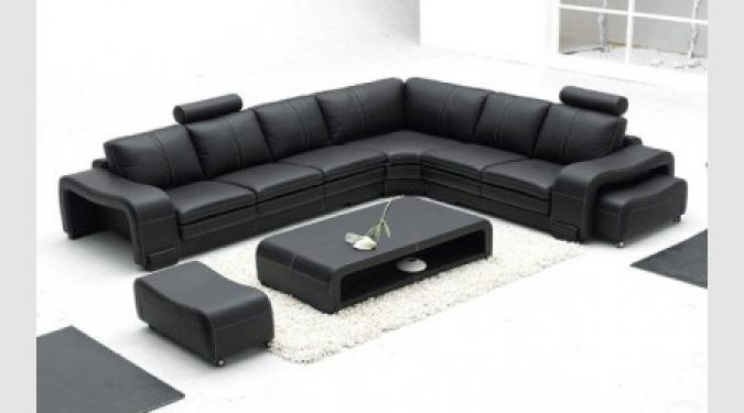 photos canap convertible cuir noir pas cher. Black Bedroom Furniture Sets. Home Design Ideas