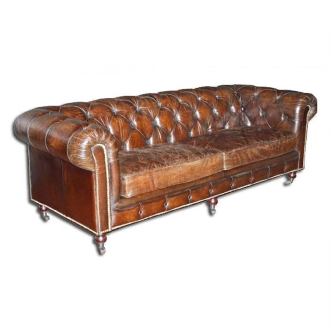 Photos canap chesterfield cuir vieilli pas cher for Canape chesterfield pas cher