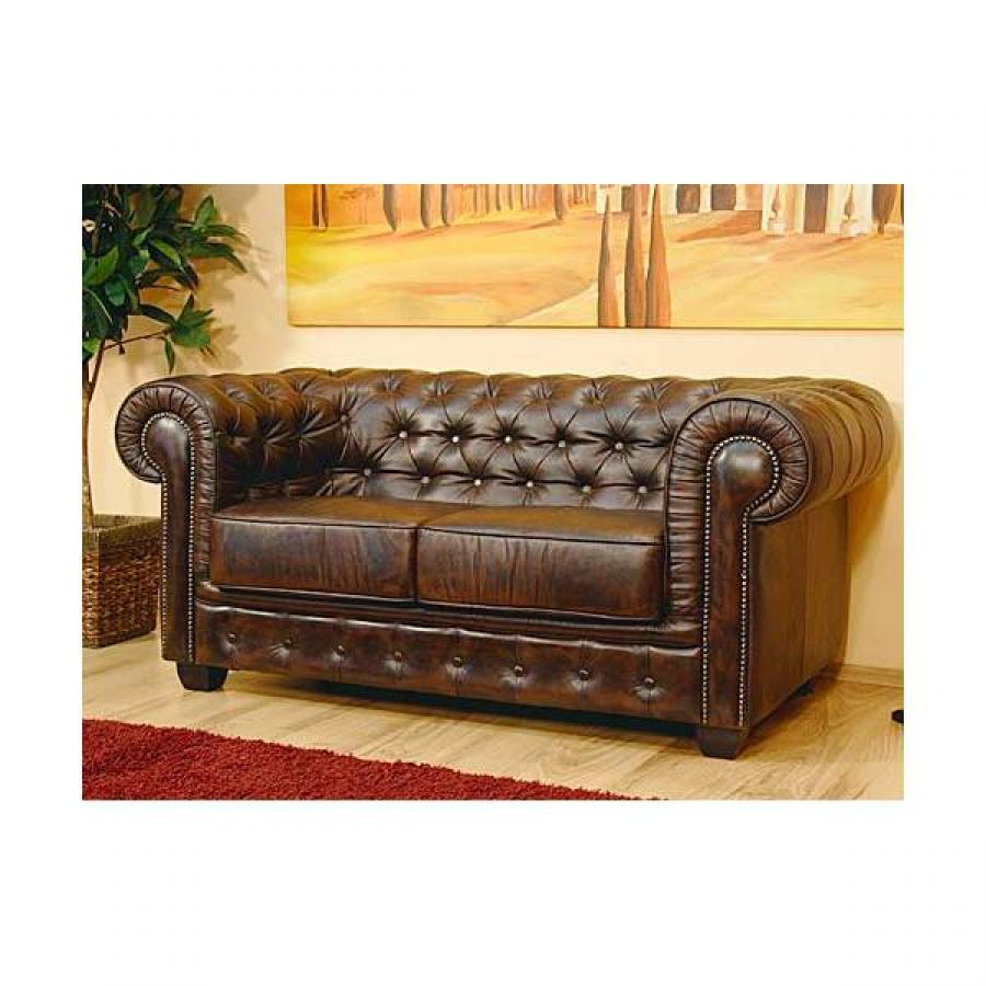 Canape chesterfield en cuir pas cher for Chesterfield canape