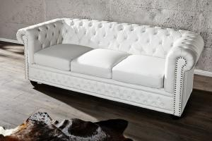 canapé chesterfield cuir blanc 3 places 7