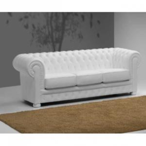 canapé chesterfield cuir blanc 3 places 13