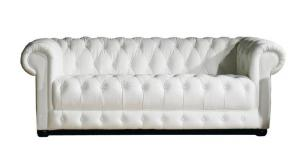 canapé chesterfield cuir blanc 3 places 16