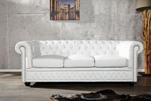 canapé chesterfield cuir blanc 3 places 18