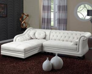 canapé chesterfield convertible cuir blanc 4