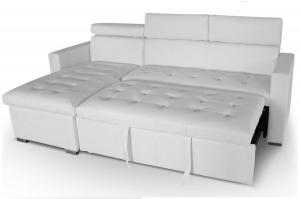 canapé chesterfield convertible cuir blanc 8
