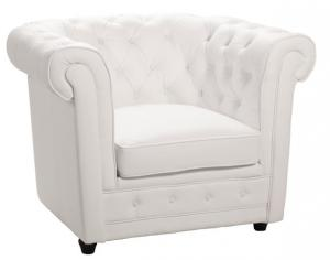 canapé chesterfield convertible cuir blanc 10