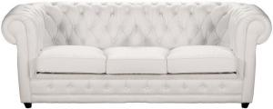 canapé chesterfield convertible cuir blanc 12