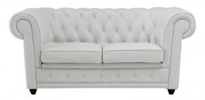 canapé chesterfield convertible cuir blanc 15