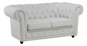 canapé chesterfield convertible cuir blanc 18