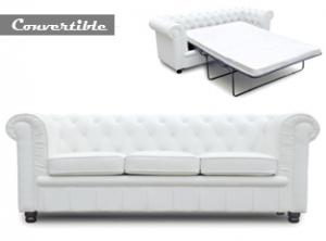 canapé chesterfield convertible cuir blanc 20