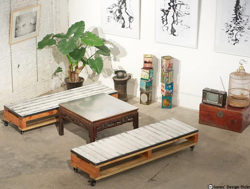 banquette en palette de bois affordable construire un salon de jardin en bois de palette with. Black Bedroom Furniture Sets. Home Design Ideas