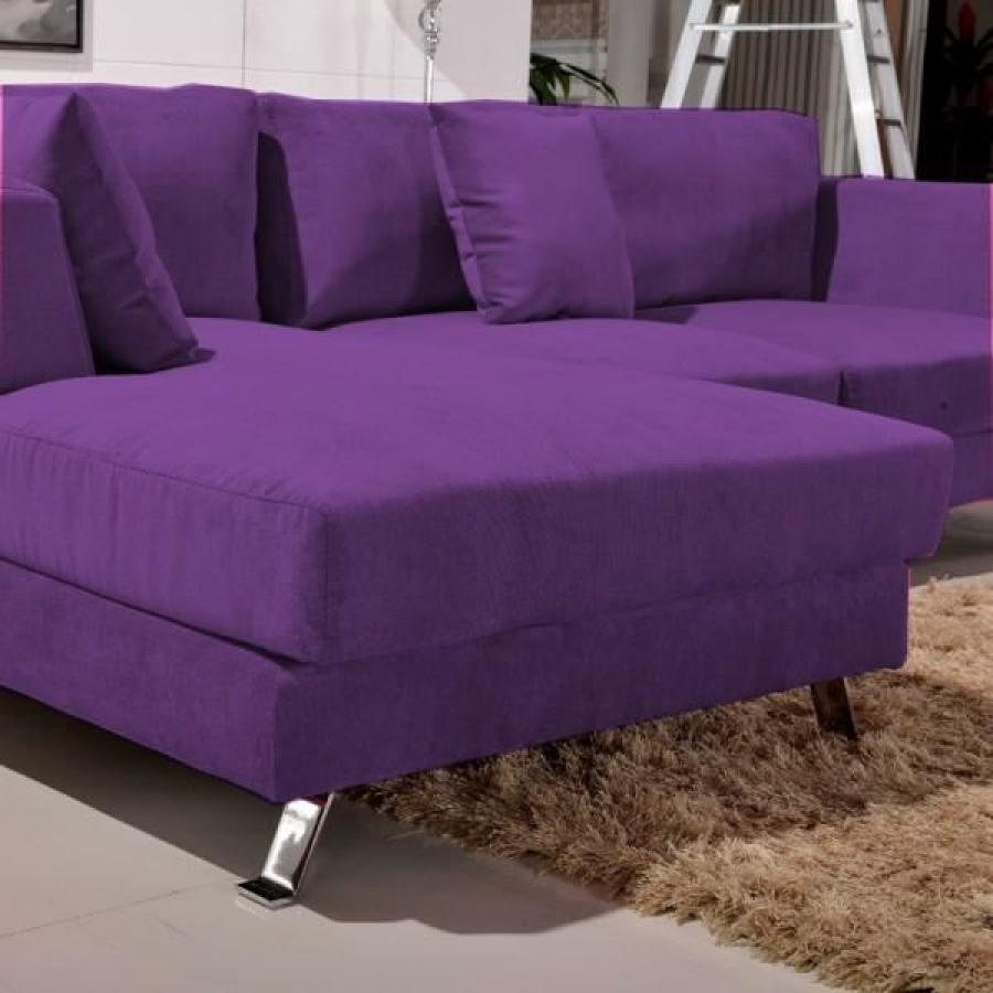 Photos canap violet - Canape convertible violet ...